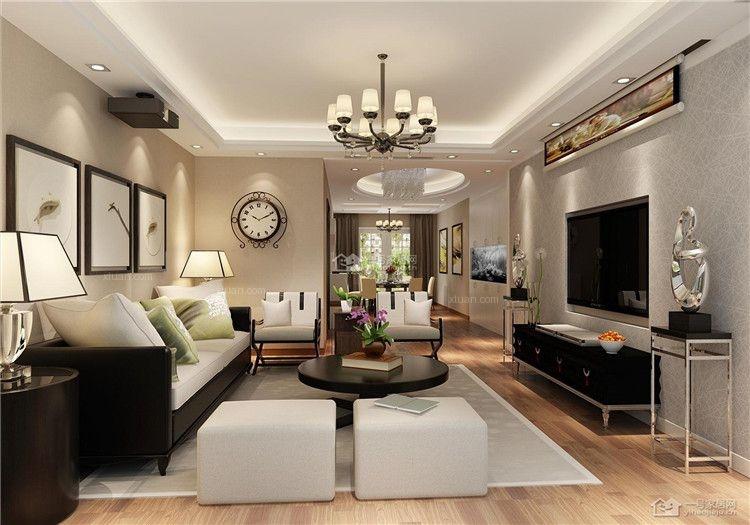 杭州望江家园现代简约155平米装修报价清新效果图