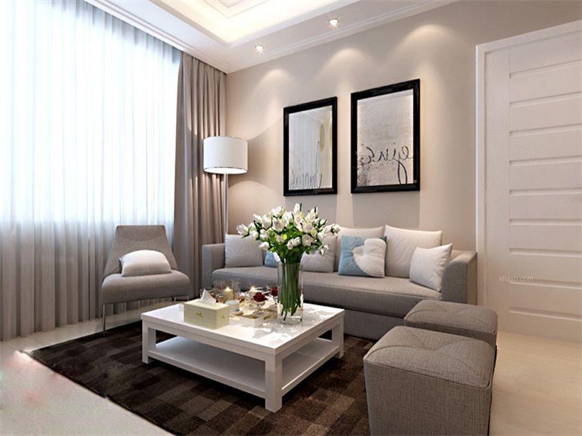 两居室现代简约客厅