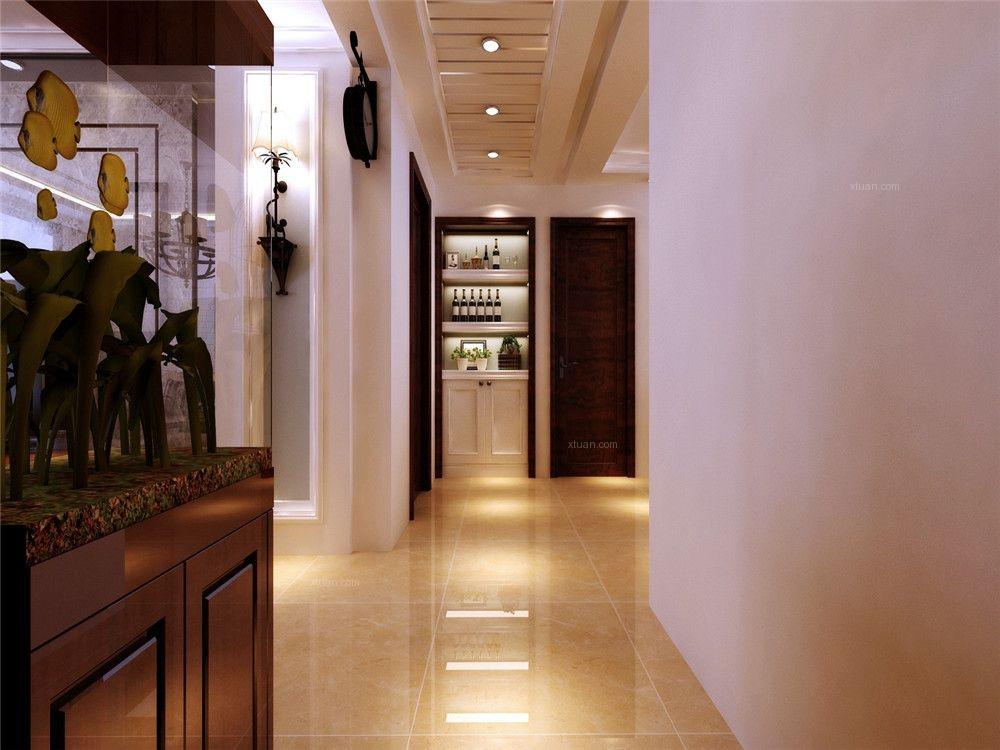 三室两厅美式风格过道图片