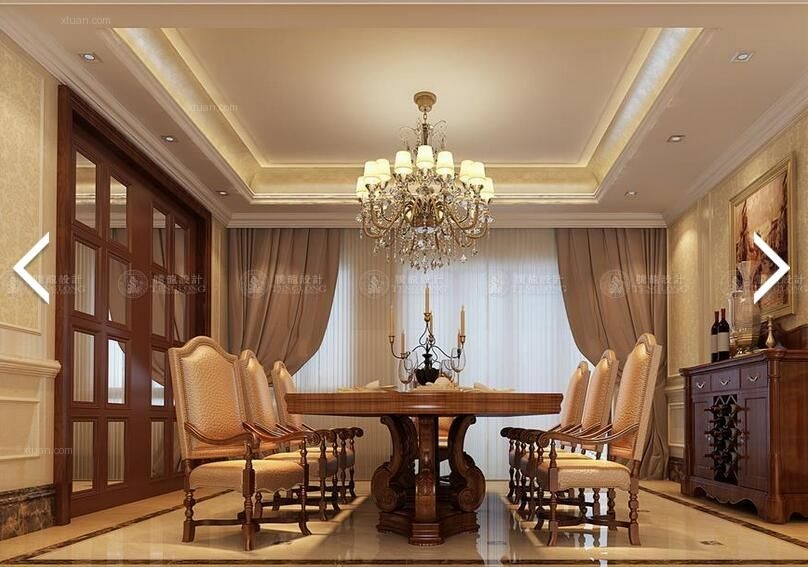 别墅欧式风格餐厅_佘山宝山别墅欧式新古典设计方案