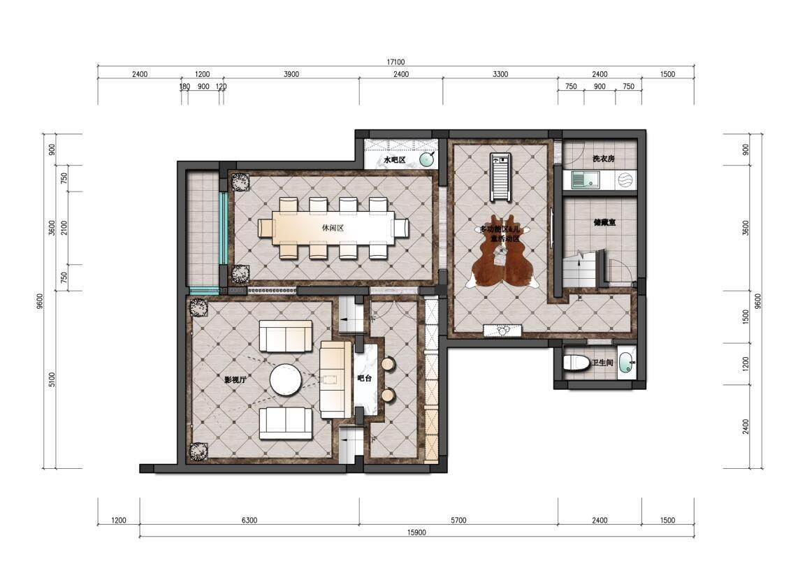别墅美式风格休闲区_保亿风景水岸别墅美式风格设计图
