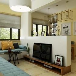 北欧风格中的卧室客厅设计作品展示