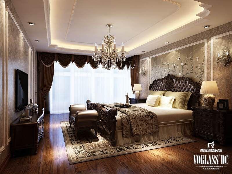 别墅美式风格卧室软装