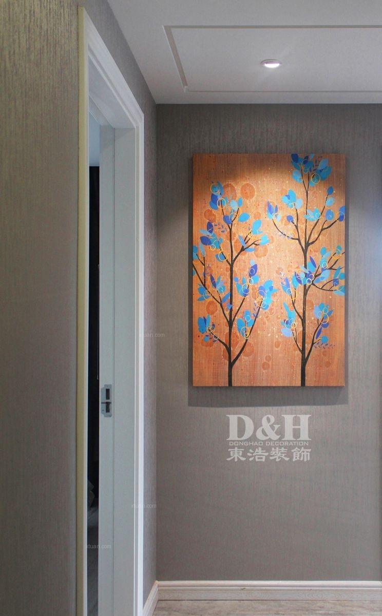 三居室现代简约过道墙绘