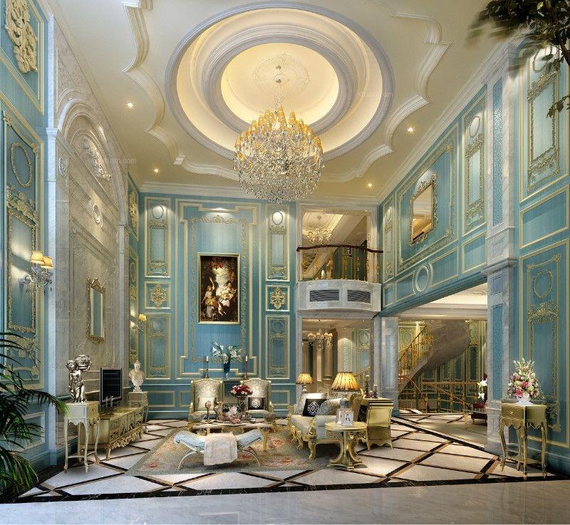 法式风格别墅客厅 装修效果图