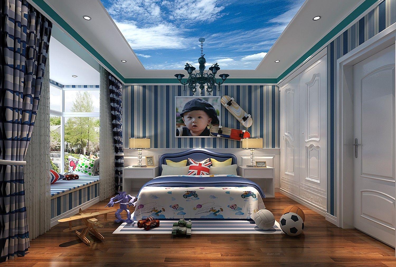 【别墅装修设计效果图】-玉兰湾90平简欧风格装修效果图