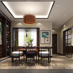 【别墅装修设计工地】-香江别墅中式风格装修设计效果图