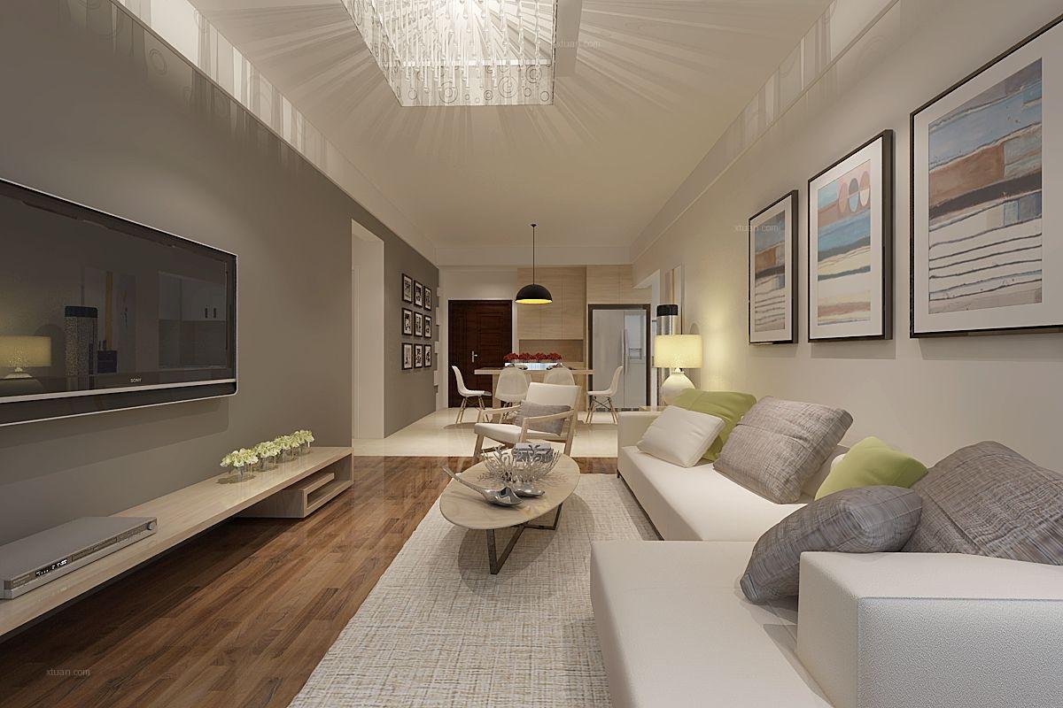 两室两厅北欧风格客厅_北欧之光装修效果图图片