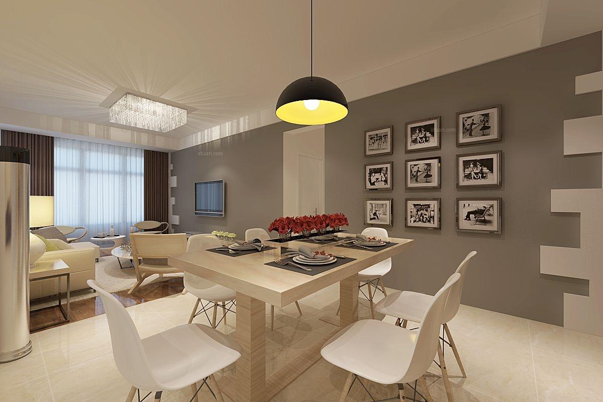 两室两厅北欧风格餐厅_北欧之光装修效果图-x团装修网