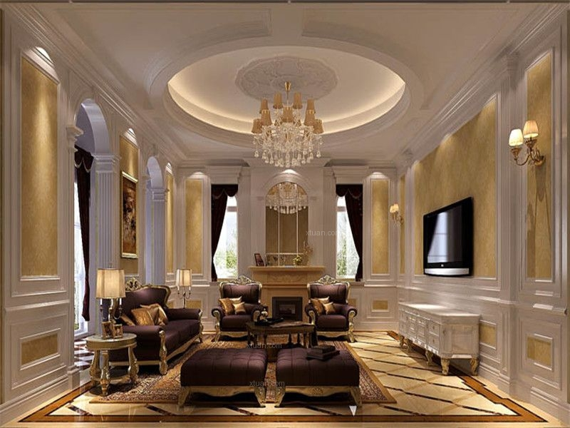 独栋别墅法式风格客厅图片