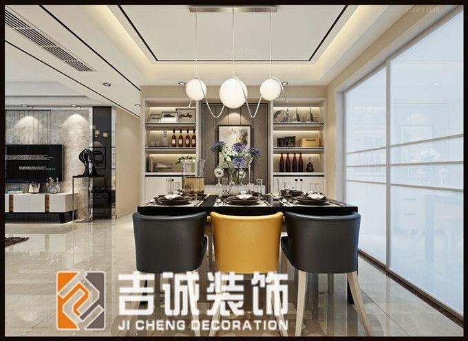 四居室现代简约餐厅