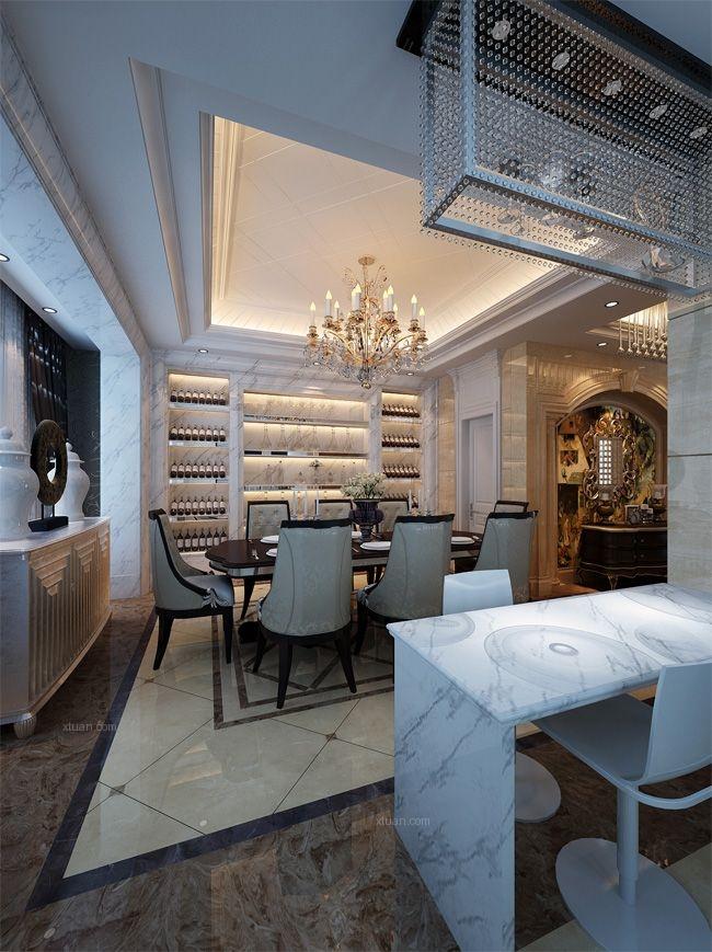 联排别墅简欧风格餐厅