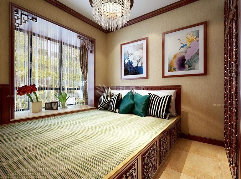 四居室中式风格卧室地台