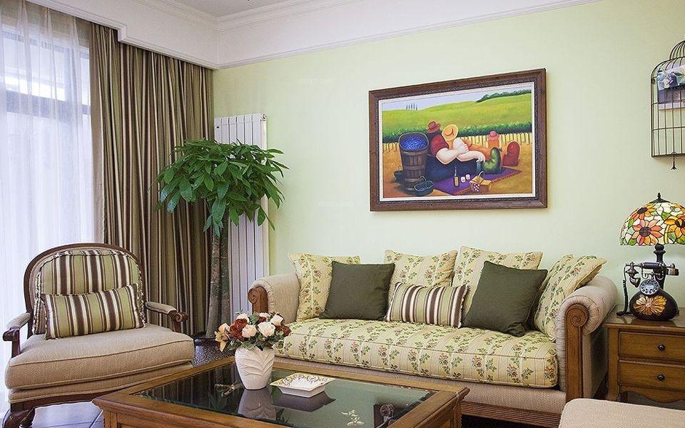 三居室田园风格客厅
