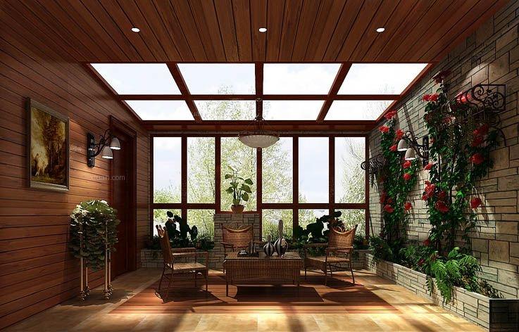 三室两厅地中海风格阳光房图片