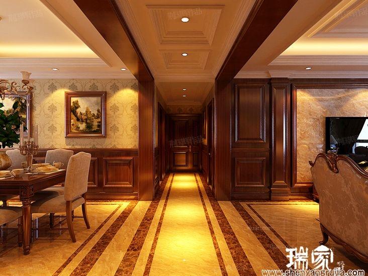 四居室美式风格过道图片