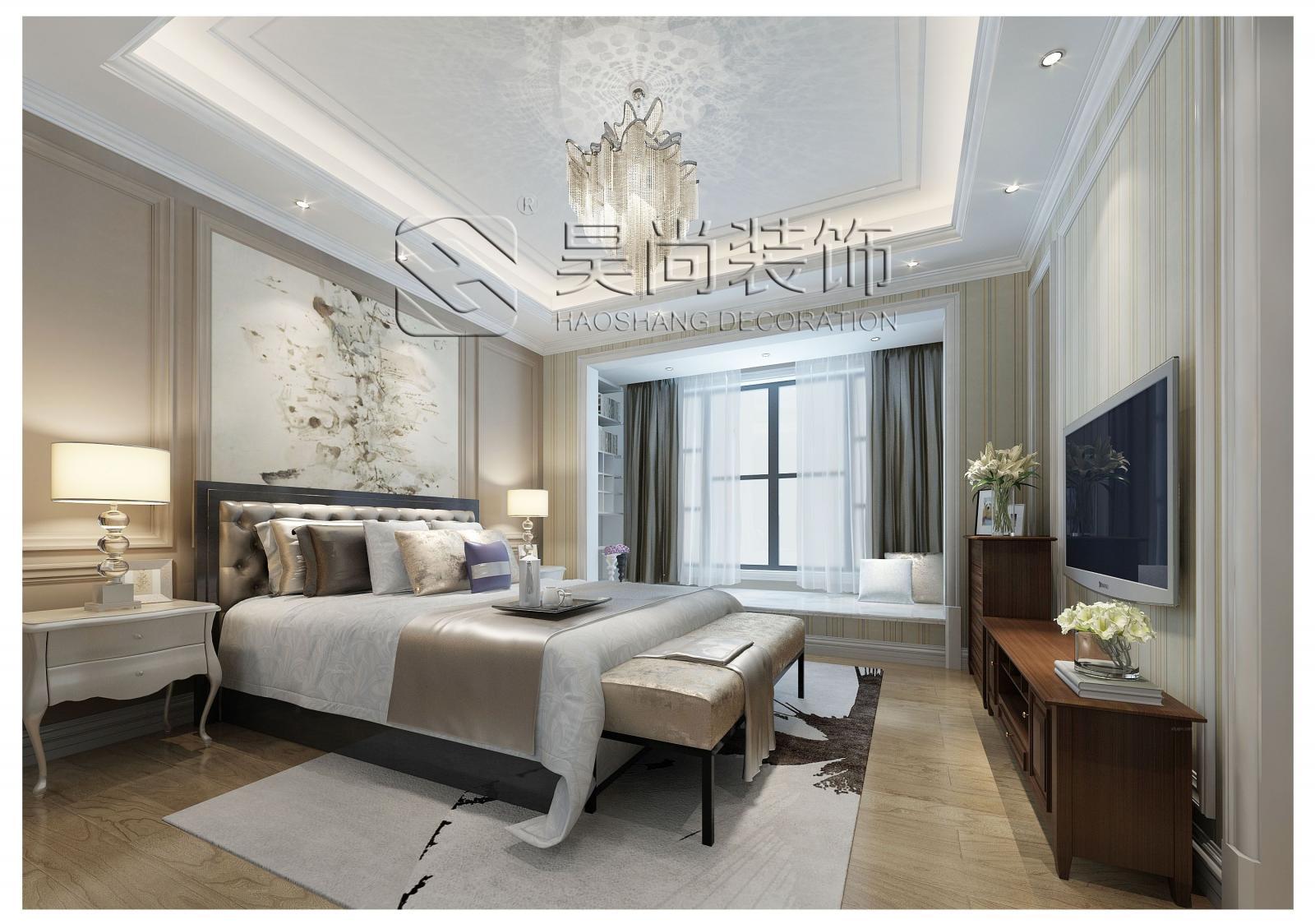 别墅中式风格主卧室