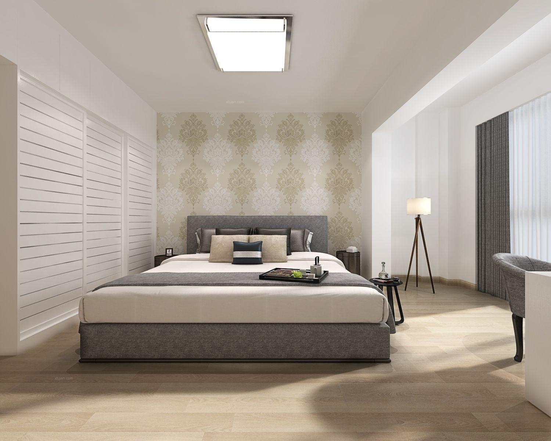 三室两厅现代风格主卧室卧室背景墙