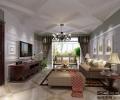 秦皇岛实创16万打造碧景华庭150平美式乡村风格