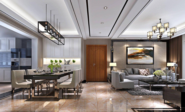 三居室北欧风格客厅_山水装饰滨湖枫丹苑台式风格方案图片