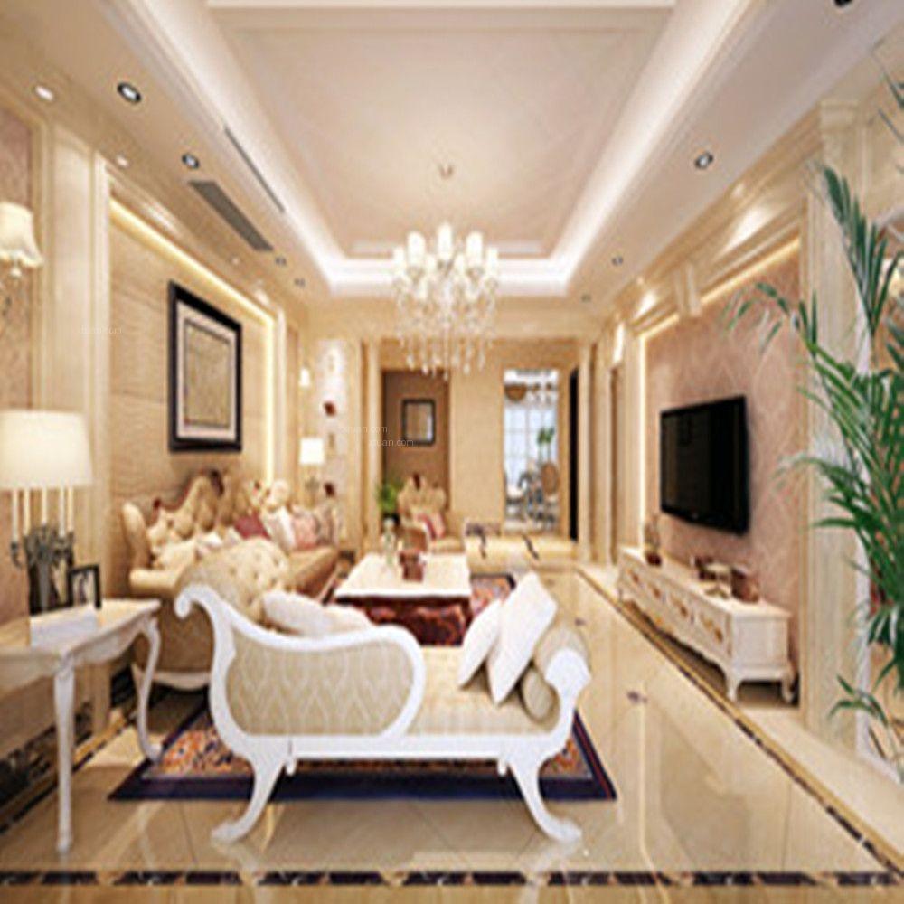 三居室美式风格客厅电视背景墙图片