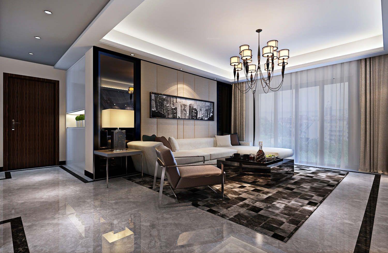三居室客厅_橡树湾120平方台式风格方案报价装修效果图片