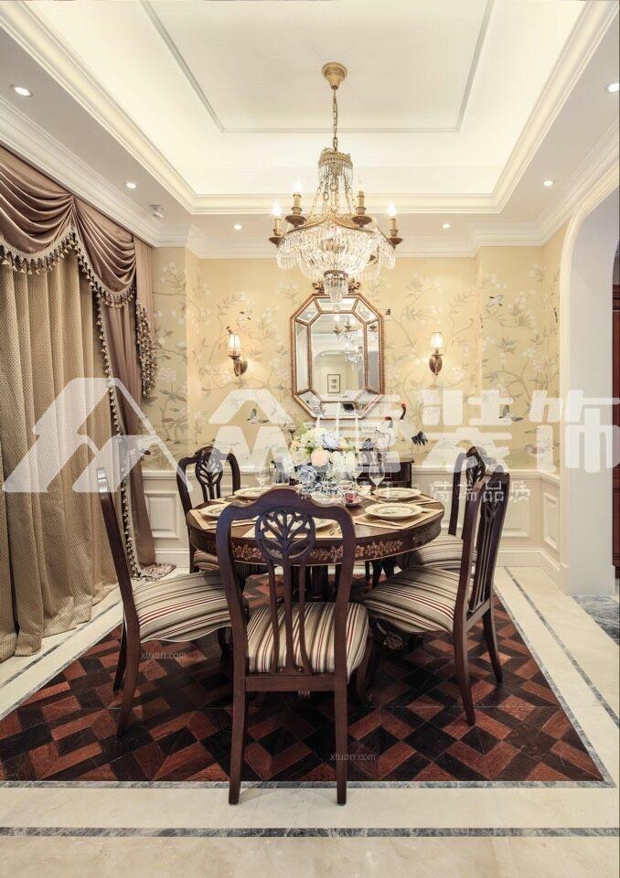 大户型法式风格餐厅_锦绣唐朝380平浪漫法式风格装修图片