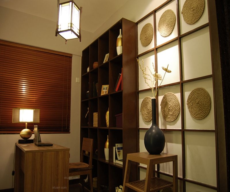 三居室东南亚风格书房