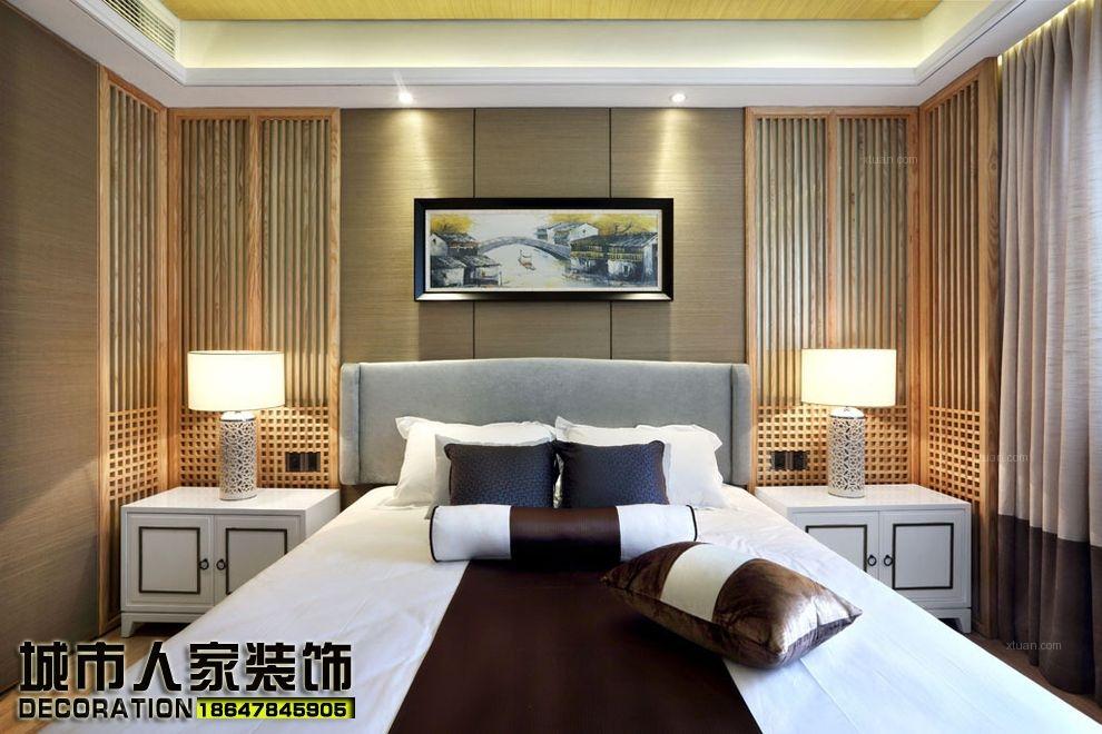 三居室中式风格主卧室榻榻米