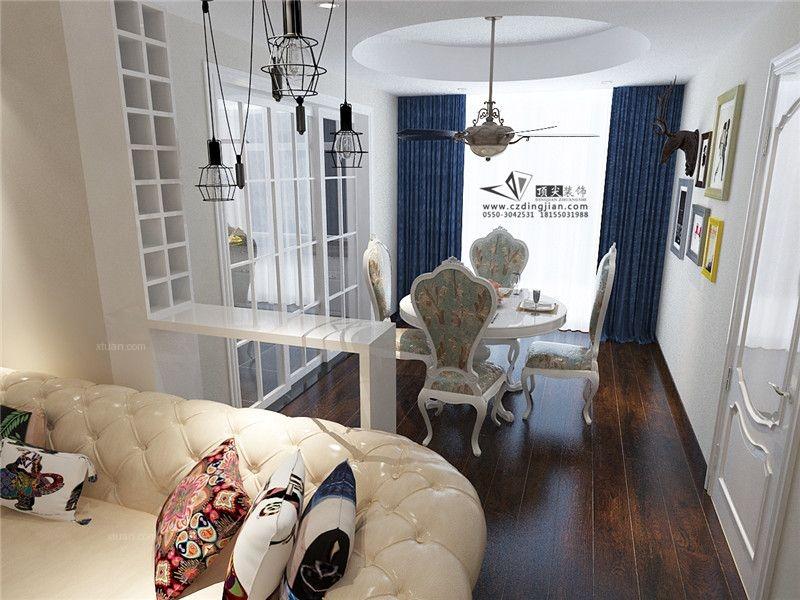 三室两厅欧式风格休闲区沙发背景墙