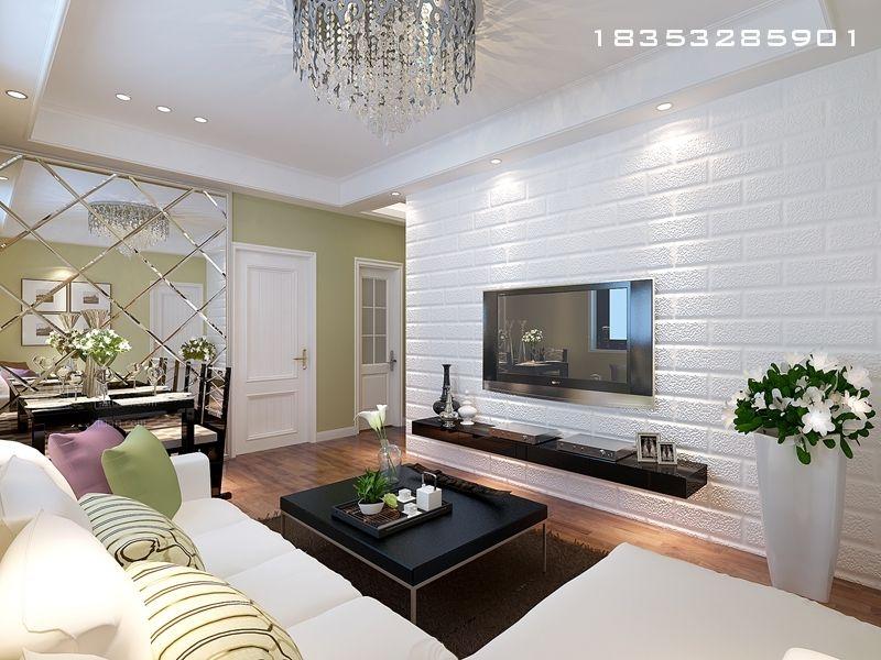 两居室现代风格客厅电视背景墙
