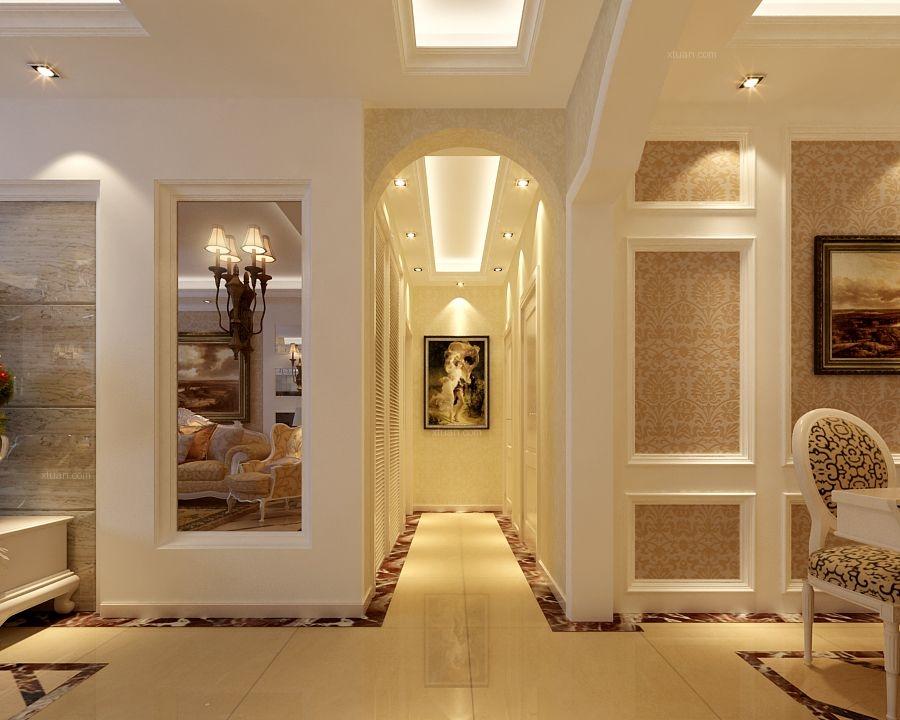 两居室简欧风格客厅入户花园