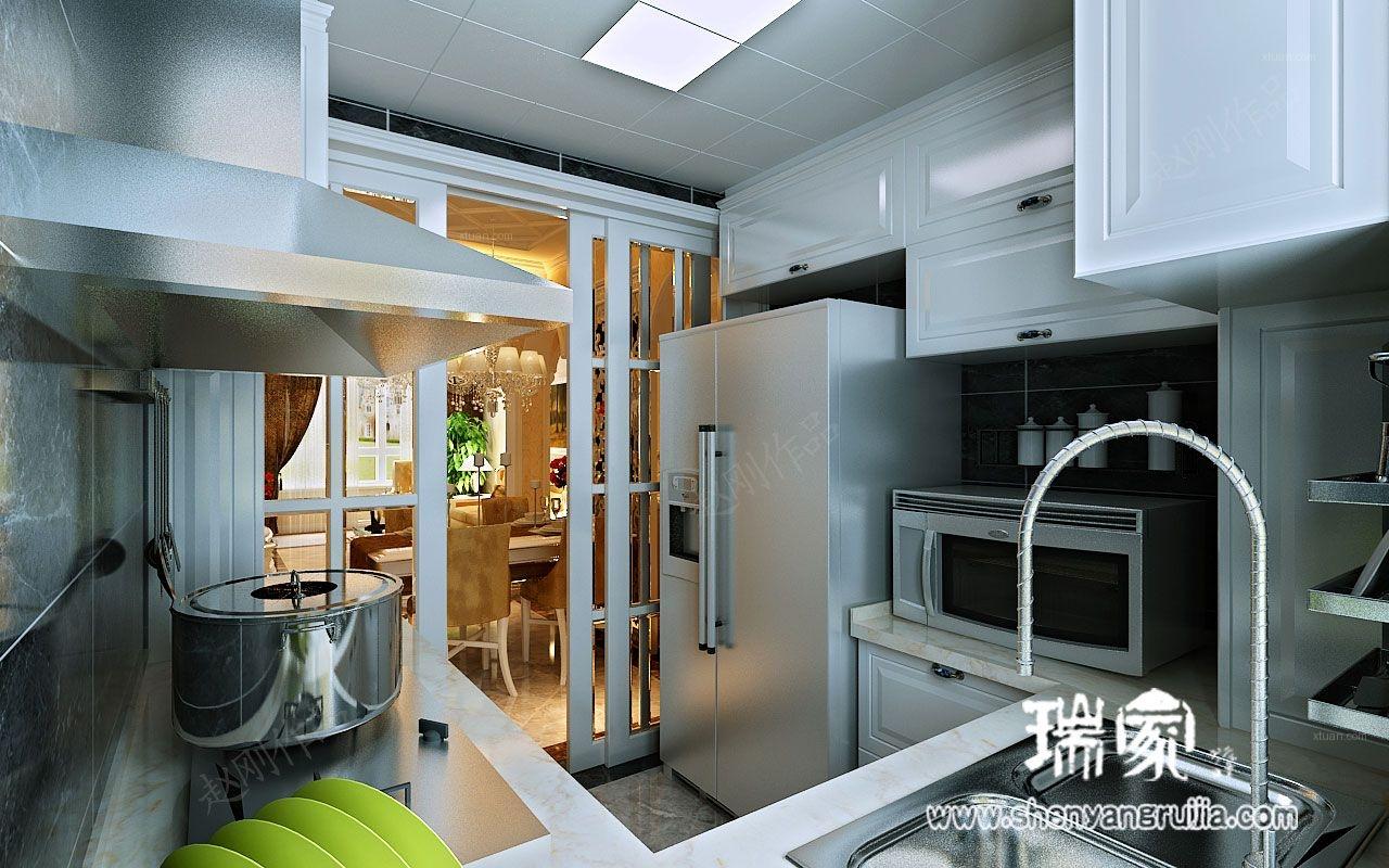 三室两厅简欧风格厨房图片