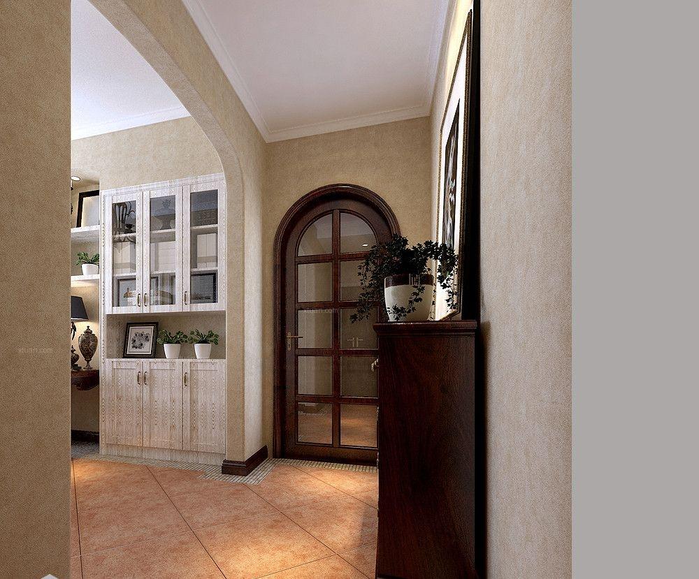 三居室美式风格过道软装图片