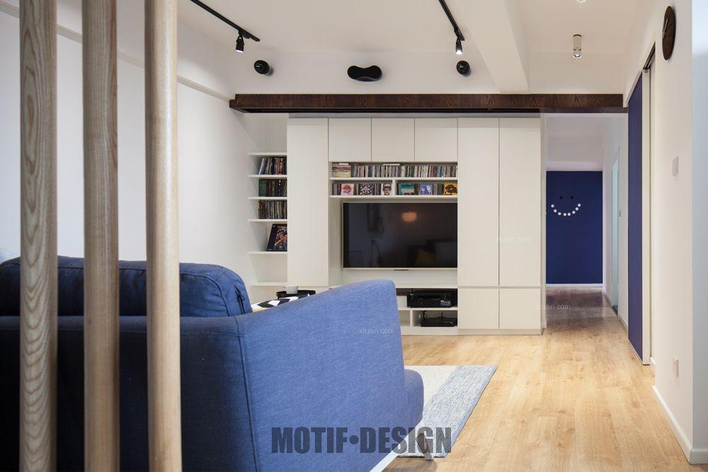 两居室北欧风格客厅隔断