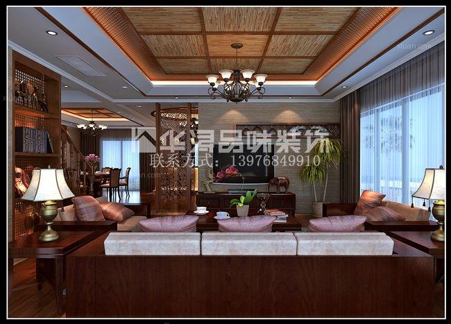 独栋别墅东南亚风格客厅