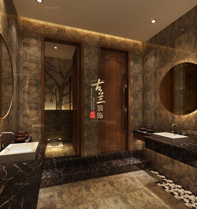 中式风格会所_悠然足浴会馆装修效果图