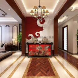 龙湖春江彼岸198平四居室新中式风格/杭州高度国际