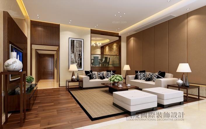 大华西溪风情318平方现代简约风格/杭州高度国际