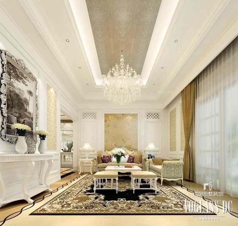 别墅法式风格客厅软装