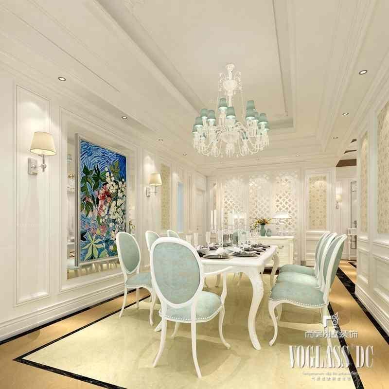 别墅法式风格餐厅软装