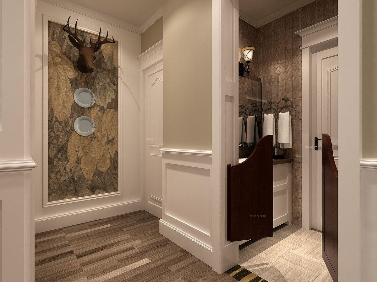 三居室美式风格玄关图片