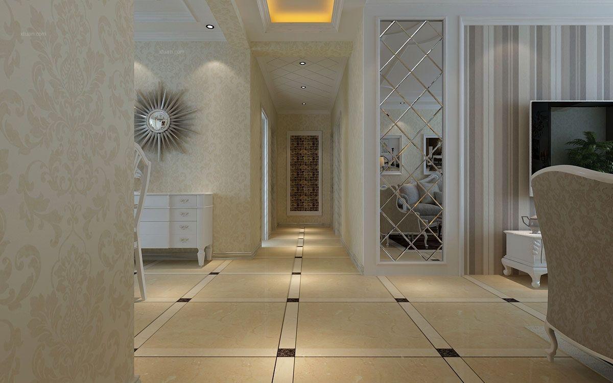 三居室欧式风格过道图片