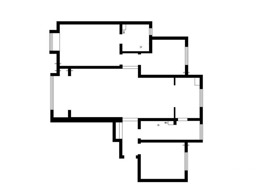 三居室现代简约休闲区入户花园