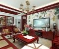 【西安鲁班装饰】绿地国际生态城四居室新中式