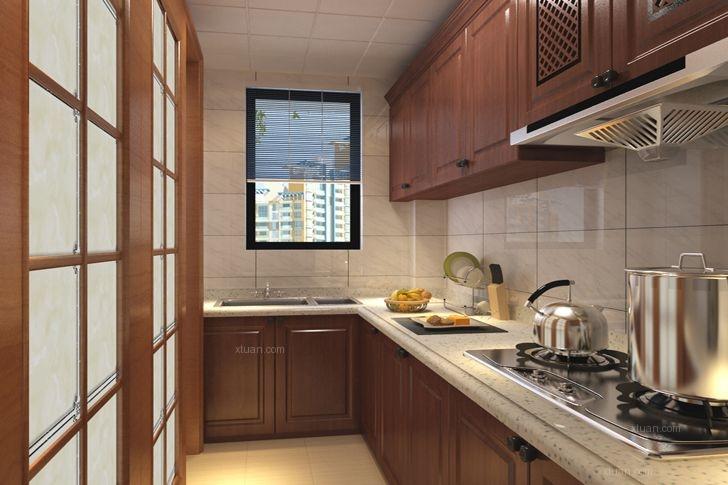 两室一厅中式风格厨房图片
