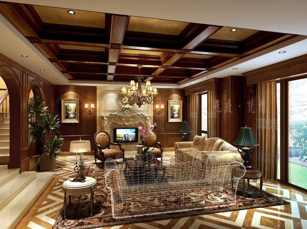 别墅洛可可风格客厅