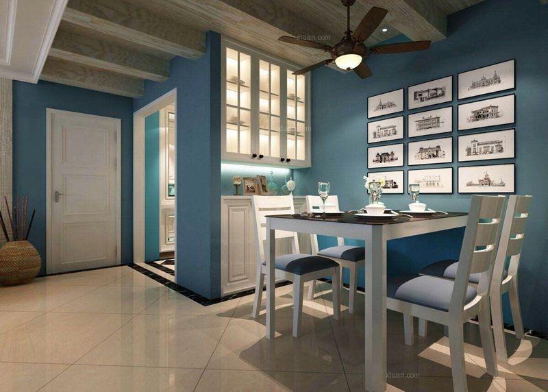 三居室北欧风格餐厅圆形吊顶图片