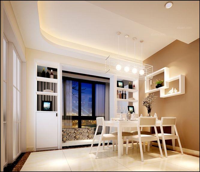 四居室现代风格餐厅电视背景墙