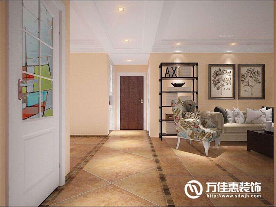 三居室美式风格地下室墙绘图片